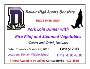 DHS Sports Boosters Drive-Thru Flyer