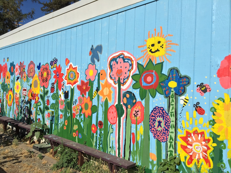 Denair students create unique garden and beautiful mural for Creating a mural